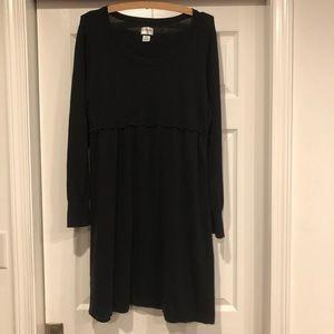 Maternity long sleeve sweater dress